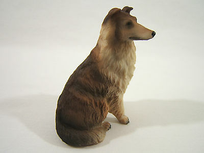 """Collie Dog Figurine, Sable Rough Coat, 3¼"""" Full Collar Tipped Ears"""