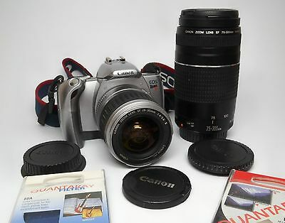 Canon EOS Rebel Ti / 300V  SLR with 28-90mm & 75-300 FD lens. NEAR MINT COND.