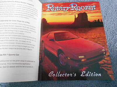 1986 MAZDA RX-7 ROTARY ROCKET MAGAZINE COLLECTOR's EDITION INTRODUCTION INFO