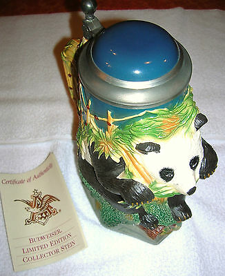LE BUDWEISER GIANT PANDA STEIN---xxx OF 5000....DISPLAYS VERY NICE