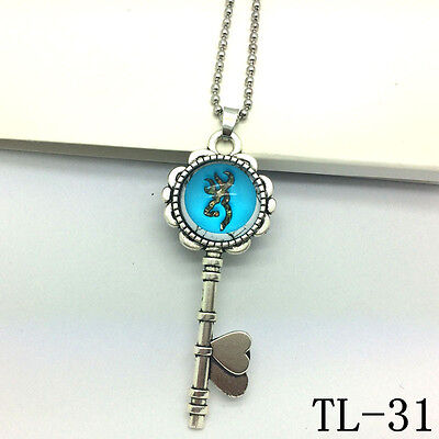 2015 NEW Browning Deer Necklace Photo Key Alloy Necklaces & Pendants  TL-31!