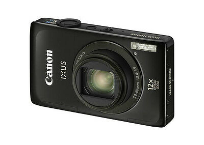 CANON PowerShot ELPH 510 HS 510HS 12.1MP Digital Camera Black w/Bonus!