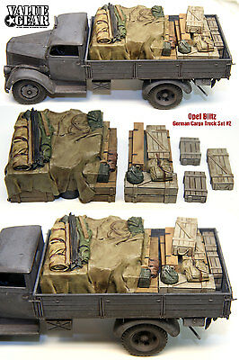 1/35 Scale Resin kit WW2 Opel Blitz German Cargo Truck Load #2 stowage