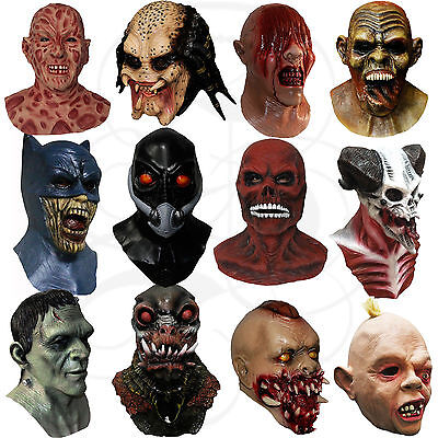 Latex Halloween Costume Overhead Hand Made Horror Vampire Zombies Goonies Masks