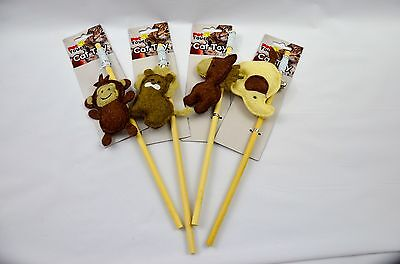 Cat/Kitten Play Pole Toy Felt Monkey, Elephant, Lion. Rain Dear !