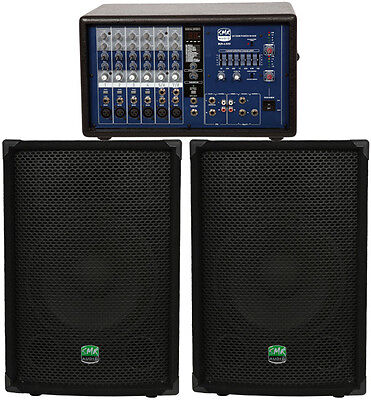 SMR Audio GB12300 PA Package (6ch Mixer/(2) 12in Spkrs) 300W RMS **NEW**