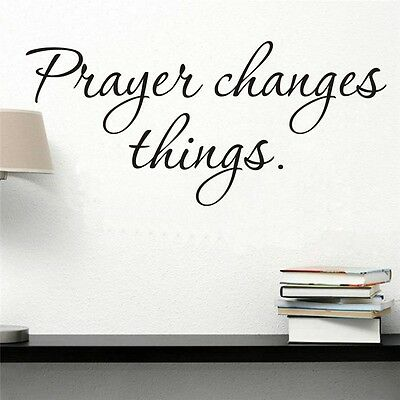 Prayer changes things Car Laptop Graphics window  wall Stickers Decals Decor art