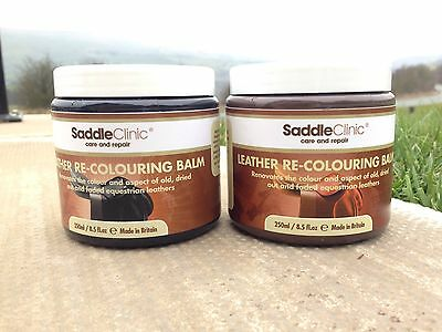 SADDLE CLINIC LEATHER RE-COLOURING BALM BROWN OR BLACK 250ml