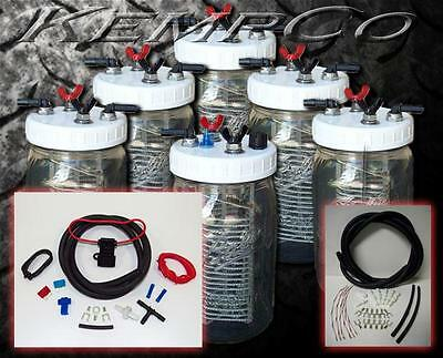 6 Cell Gas Saver HHO Hydrogen Generator Complete Kit + FREE ELECTROLYTE