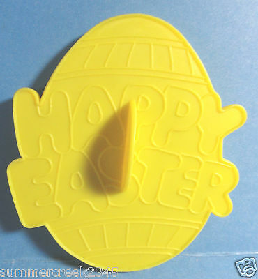 Vintage 1990 Wilton Yellow Plastic Happy Easter Egg Cookie Cutter