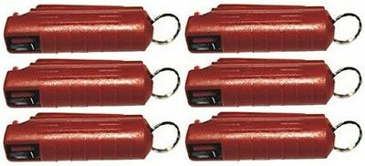 Lot Of 6 Wildfire 18% Oc Pepper Spray .5 Ounce Keychain Red