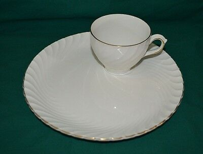 Burleigh Ware Burgess & Leigh Burslem England Ironstone Plate Cup Party (4060)