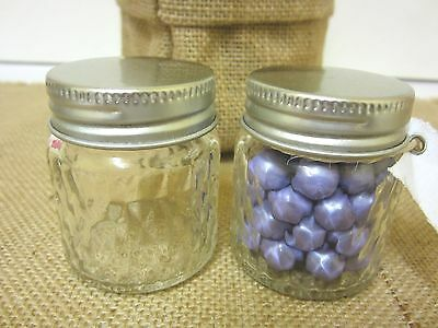 12 x 70ml Quilted Mason Mini Small Glass Jars Wedding Favours Lolly Jars