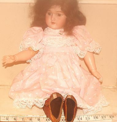 Original Antique Victorian French or German Bisque  Doll Dress Set of Two