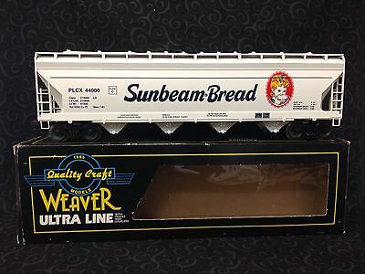 WEAVER 3-RAIL, SUNBEAM BREAD 4-BAY CENTERFLOW COVERED HOPPER W/ Box