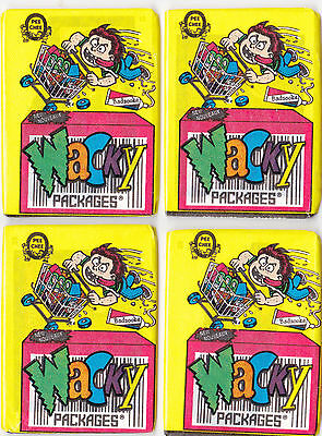 1992 WACKY PACKAGES O-PEE-CHEE LOT OF FOUR UNOPENED PACKS