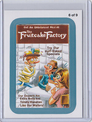 2013 WACKY PACKAGES ANS11 BLUE BORDER *THE FRUITCAKE FACTORY** #6 of 9 RUDE FOOD