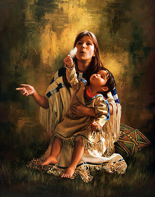 Oil Painting HD Print Picture Mother and Child on canvas L346