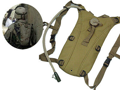 New Airsoft Military 3L Hydration Pack Water Backpack Hiking Climbing Tan