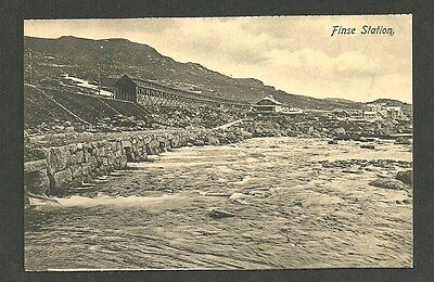 Postcard RARE FINSE STATION EARLY RAILROAD RAILWAY UNUSED SCANDINAVIA