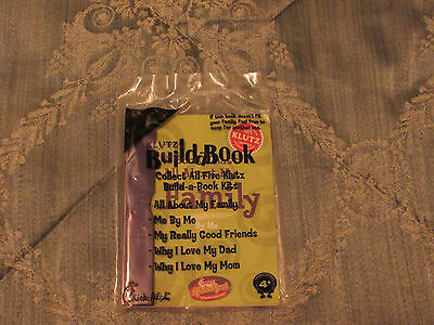 NEW CHICK-FIL-A 2012 KID'S MEAL KLUTZ BUILDABOOK KIT ALL ABOUT MY FAMILY SEALED