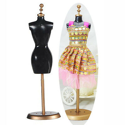 Doll Barbie Mannequin Model Dress Outfit Clothes Display Rack Holder Stand 1pcs