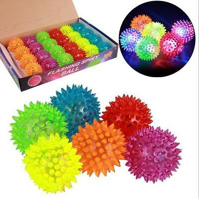 Flashing Light Up Spikey High Bouncing Balls Novelty Sensory Hedgehog Ball DIUK
