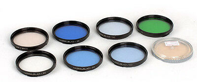 Hasselblad  Filters B50 50mm with case light blue, green skylight totally 7x