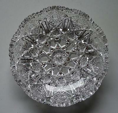 ABP AMERICAN BRILLIANT PERIOD CUT GLASS BOWL VERY NICE