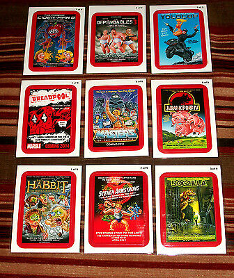 """2013 WACKY PACKAGES ANS11 """"COMING DISTRACTIONS""""COMPLETE RED BORDER SET + WRAPPER"""