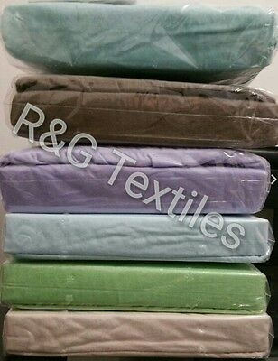 100% Cotton Flannel / Flannelette Fitted Sheet queen king single double