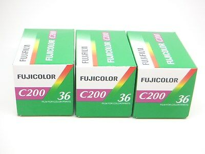 3x FUJI FUJICOLOR C200 35mm 36exp CHEAP COLOR PRINT FILM by 1st CLASS ROYAL MAIL