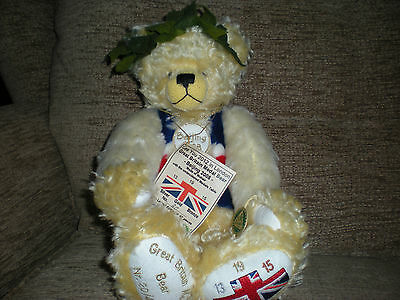 Hermann Limited Edition Teddy Bear great britain medals beijing olympics