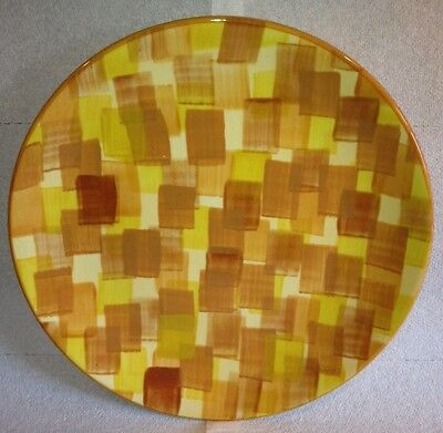 "Kaleidoscope Yellow By Gail Pittman USA Nwt 11"" Dinner Plate"