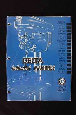 1963 Delta Industrial Machines Illustrated Catalog AB-63 VTG Rockwell Price List