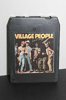 """THE VILLAGE PEOPLE """"LIVE and SLEAZY"""" 8-TRACK CLASSIC (NBL 87183) YMCA, MACHO MAN"""