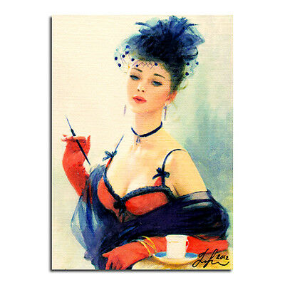 """ORIGINAL WATERCOLOUR PAINTING ACEO CARD ART PICTURE """"BEAUTIFUL WOMAN"""" Signed"""