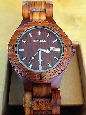 The new high-end Red sandalwood handmade wooden watch vintage watches for men