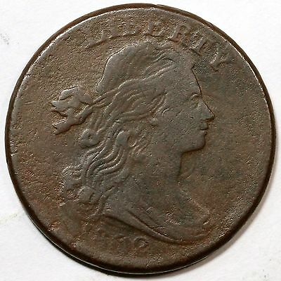 1802 S-227 R-2 Draped Bust Large Cent Coin 1c Ex; J. Wright