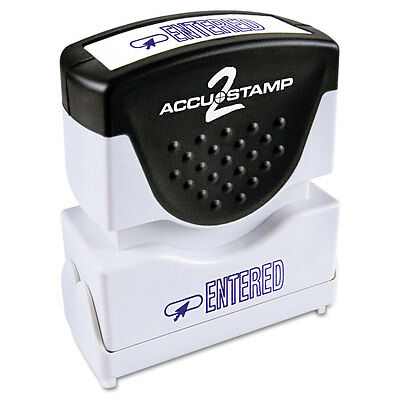 Accustamp2 Shutter Stamp with Microban, Blue, ENTERED, 1 5/8 x 1/2