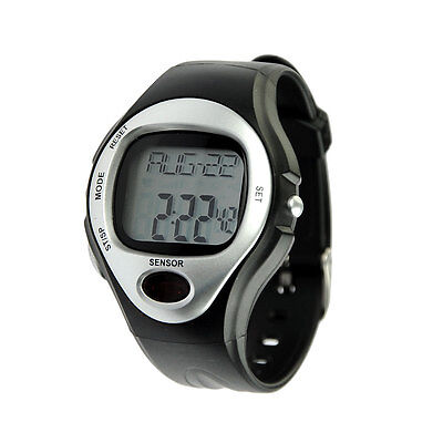 White Pulse Heart Rate Monitor Calorie Counter Watch Fitness Sports Exercise