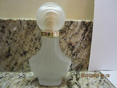 Vintage Frosted Glass Decorative Perfume Bottle-Art Deco Style