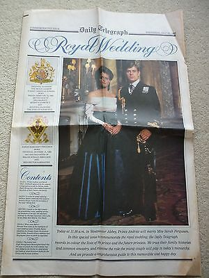 Daily Telegraph Andrew & Sarah Royal Wedding 23/7/86 Commemorative Issue 8 Pages