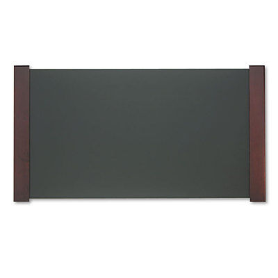 Desk Pad with Wood End Panels, 38 x 21, Mahogany Finish