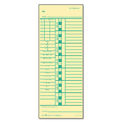 Time Card for Acroprint/Simplex, Weekly, Two-Sided, 3 1/2 x 9, 500/Box
