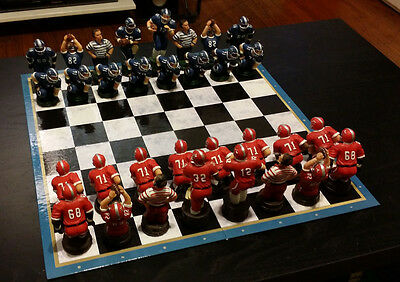 Football Chess Pieces Game Figurines Collectible Ceramic (Chess Pieces Only)