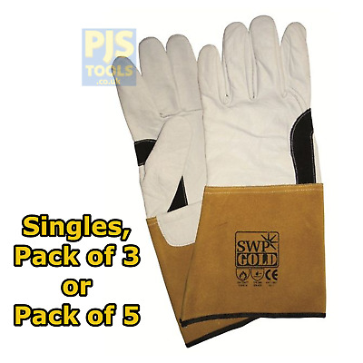 Super soft grain leather & kevler stitched tig welders gloves welding gauntlets