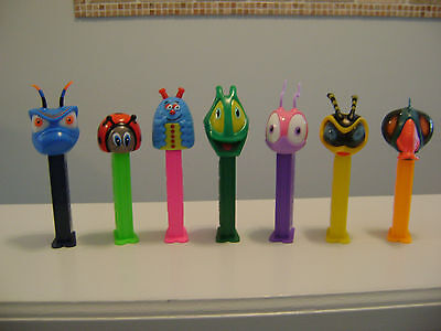 PEZ 7 DIFFERENT BUGZ DISPENSERS RETIRED