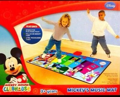 NEW DISNEY MICKEY MOUSE CLUBHOUSE MUSIC MAT INTERACTIVE PIANO GREAT DEAL!