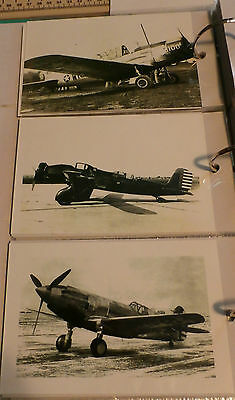 WWII U.S. MILITARY AIRPLANES LOT OF 3 B&W 4X6 PHOTOGRAPHS SET #72a